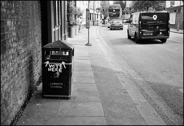 Democracy. Gresham Road, Brixton.