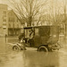 Automobile in Flooded Street, Warren, Pennsylvania, March 1913