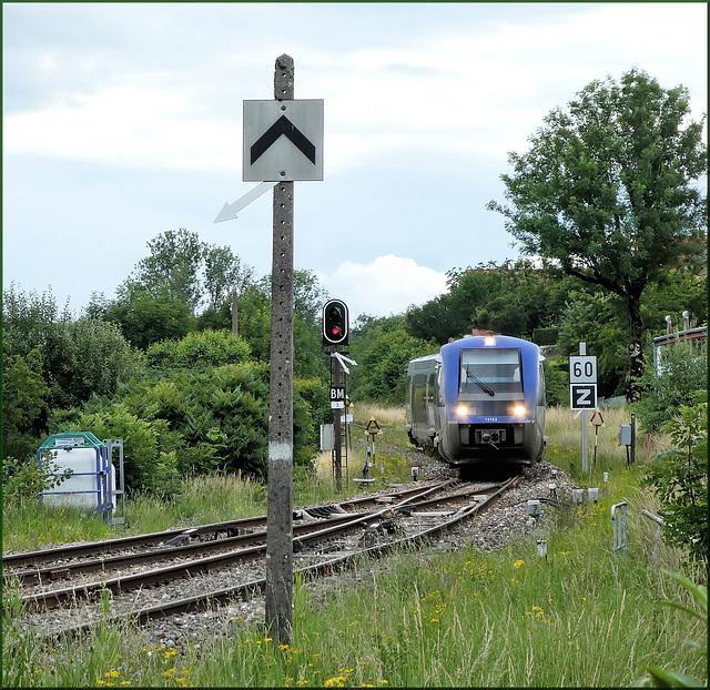 Valdahon (25) 28 juin 2020. TER en provenance de la Chaux-de-Fonds (CH)