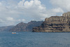The coastline at Santorini