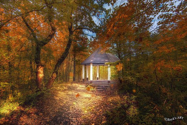Pavillon im Wald