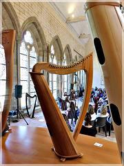 la harpe à l'abbaye de Léhon (22) avec Lydwen