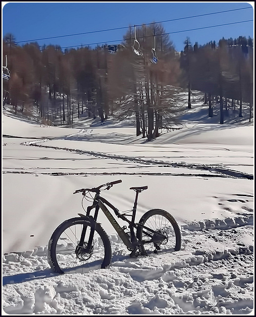 Niente sci...solo bici o ciaspole