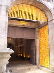 Corn nuts framing the door.