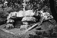 Pulhamite rocks, Battersea Park.