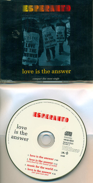 Esperanto 'Love is the answer'
