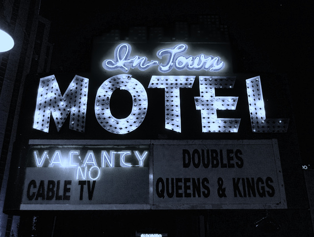 In Town Motel (black and white)