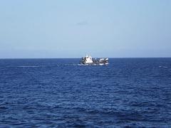 Cargo ship heading to Flores Island.