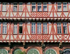 Fachwerk in Frankfurt/ Main -Haus Wertheym-Bräustübl