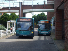 DSCF4494 Arriva the Shires KX09 GYV and MX12 KWT in Welwyn Garden City - 18 Jul 2016