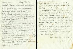 1941,Oct.13th -Meines Großvaters letzter Brief  bevor er nach Theresienstadt transportiert wurde