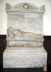 Memorial to Lady Victoria Talbot (d.1856), Chancel of Ingestre Church, Staffordshire