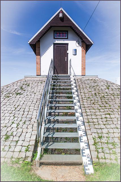 Pegelhaus bei Ratzdorf a.d. Oder