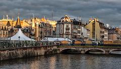 Belfort: 2017.12.13 Le pont Carnot, la place Corbis.