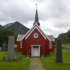 Flakstad parrish church.