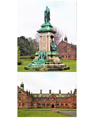 Gladstones Statue And library Hawarden North Wales.