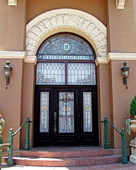 Door to the Victorian Room in the Driskill Hotel