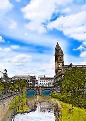 White Cart Water and Paisley Town Hall