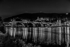 Heidelberg,Carl-Theodor-Bridge and Castle /  Carl-Theodor-Brücke and Schloss (135°)