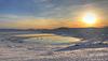 Lake Vinstre in the sunrise.