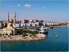 Città di Suez : dopo questa boa il canale diventa 'Mar Rosso'