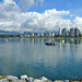 Blick auf Downtown Vancouver von Kitsilano Beach