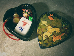 Russian box with trinkets