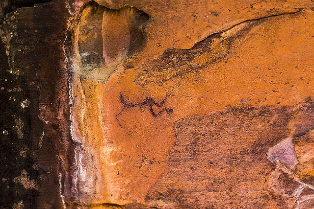 el arquero, pintura rupestre época neolítica