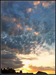 Nubes vespertinas.