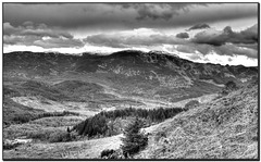 Towards the Mentheith Hills from the Duke's Pass.