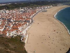 Towering view over Nazaré.
