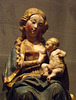 Detail of an Enthroned Virgin with Nursing Child in the Metropolitan Museum of Art, January 2013