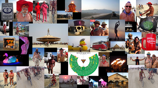 Burning Man Collage 2013