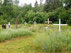 Foin funéraire avec croix autochtones