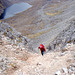 Jim Simpson climbing up from Coire Mhic Fhearchair to the Beinn Eighe Ridge 12th May 1996
