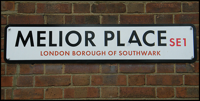 Melior Place street sign