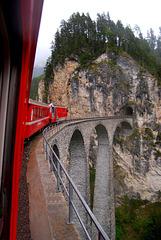 Crossing Landwasser viaduct