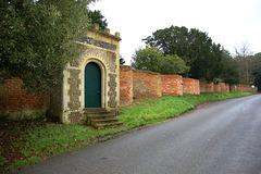 Bramfield Hall Garden Walls, Suffolk