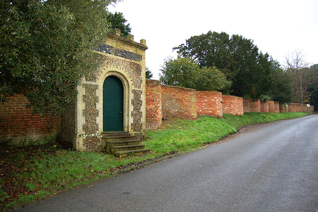 Bramfield Hall Garden Walls, Suffolk