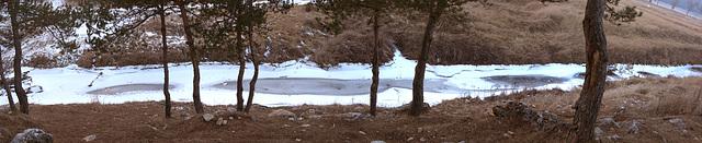 pano rivière Caille gelée