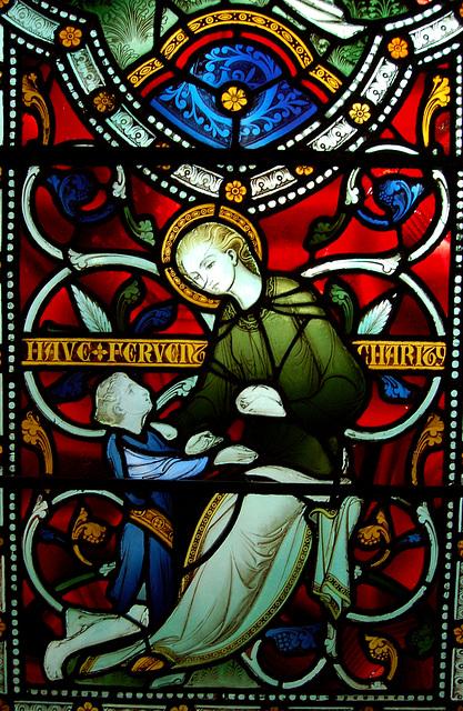 Detail of the Bray Memorial Window, Chancel, St Margaret's Church, Ward End, Birmingham  (Redundant)