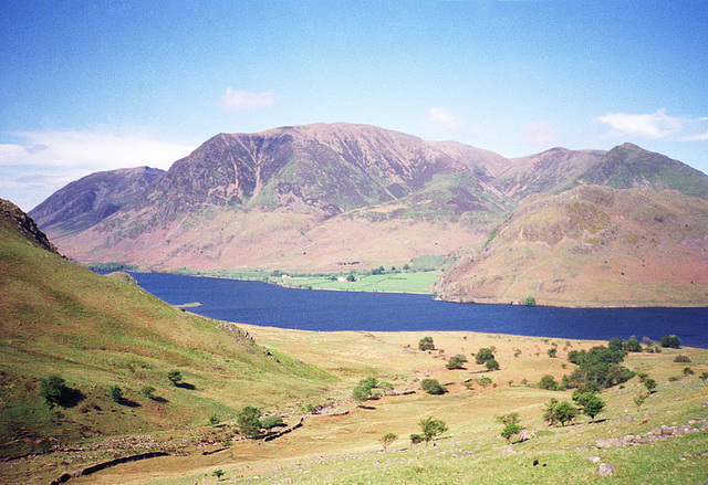 Crummock Water and Grasmoor from near Scale Force (Scan from May 1991)