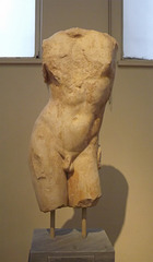 Torso of Apollo Sauroktonos in the National Archaeological Museum of Athens, May 2014