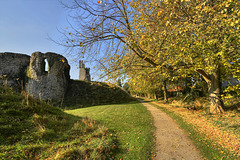 Autumn walk by Helmsley Castle - North Yorkshire
