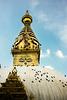 The Eyes on the Buddhist Stupa of Swayambhu, Kathmandu