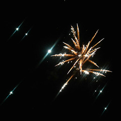 Fire flower and stars. Happy 2019.