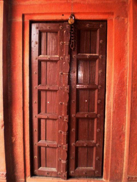 Inside door.