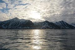 Midnight Sun in Hornsund-fjord