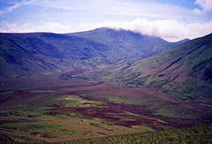 View across Mosedale towards Great Bourne and Starling Dod (Scan from May 1991)