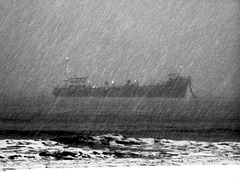 Dark Ship on the Dark Sea
